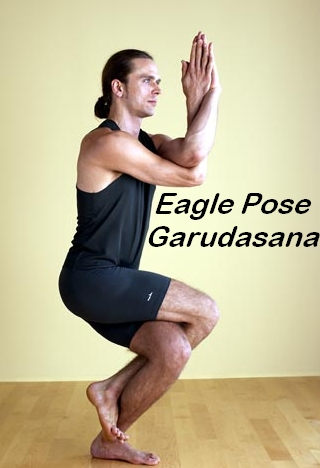 And I was able to do it   Eagle Yoga Pose