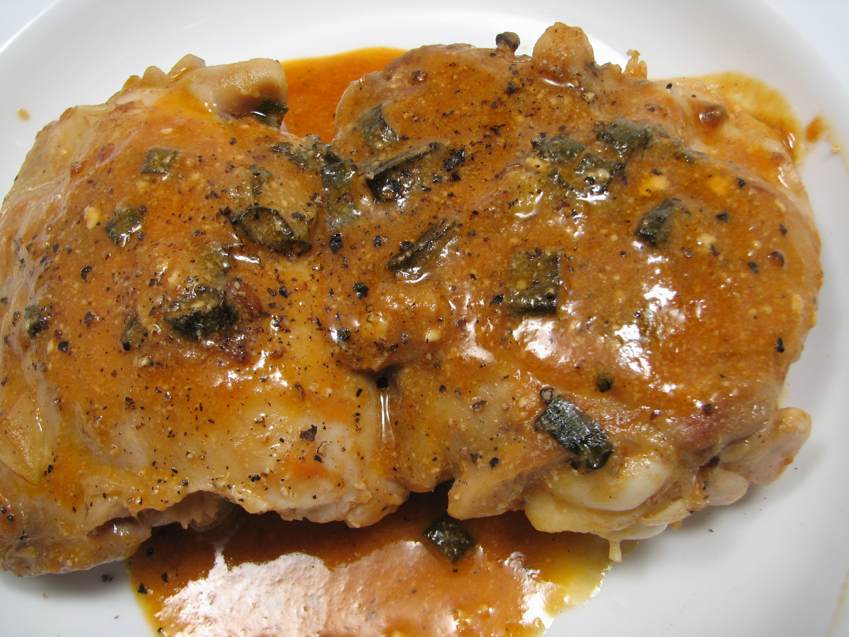 Skinless Chicken Thighs With Shallots In Red Wine Vinegar ...