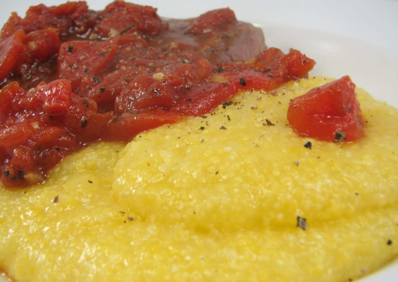 Tuscan Lamb With Tomatoes and Polenta