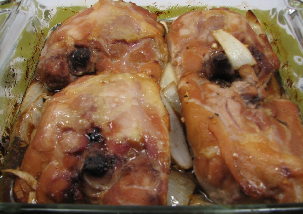 Garlic and Soy Chicken Thighs