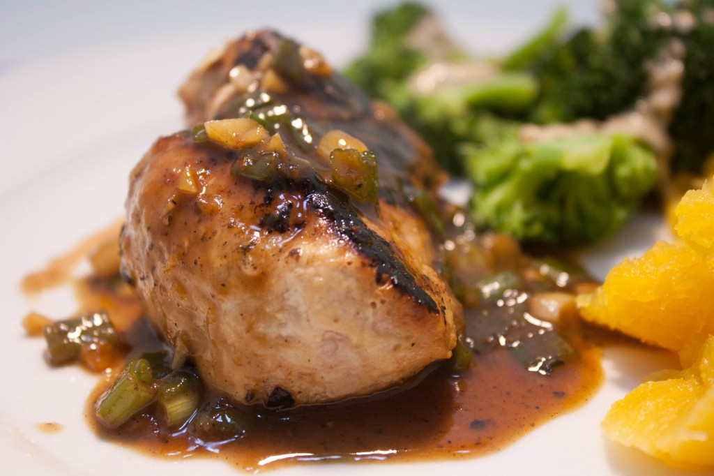 Pork Chops with Ginger-Soy Glaze