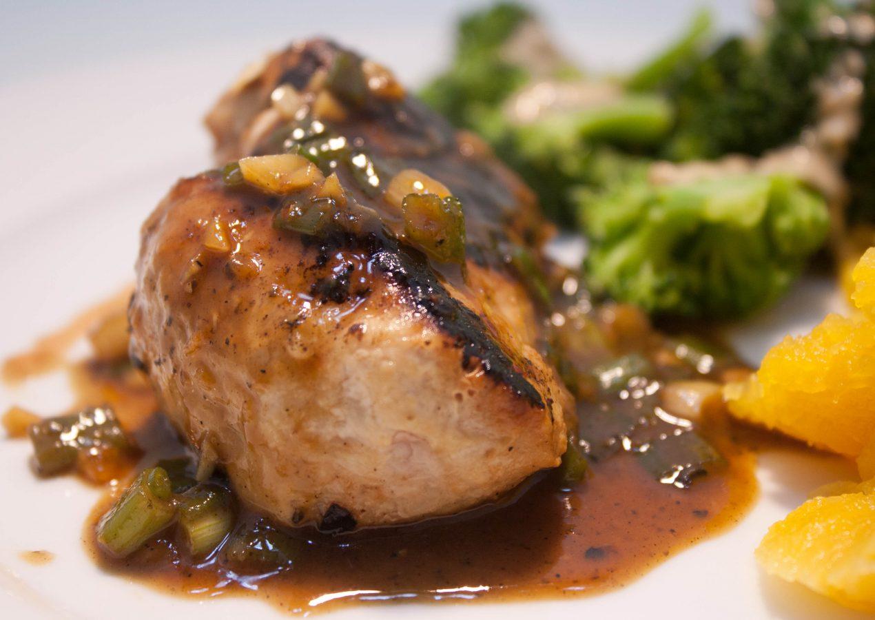 Pork Chops with Ginger-Soy Glaze